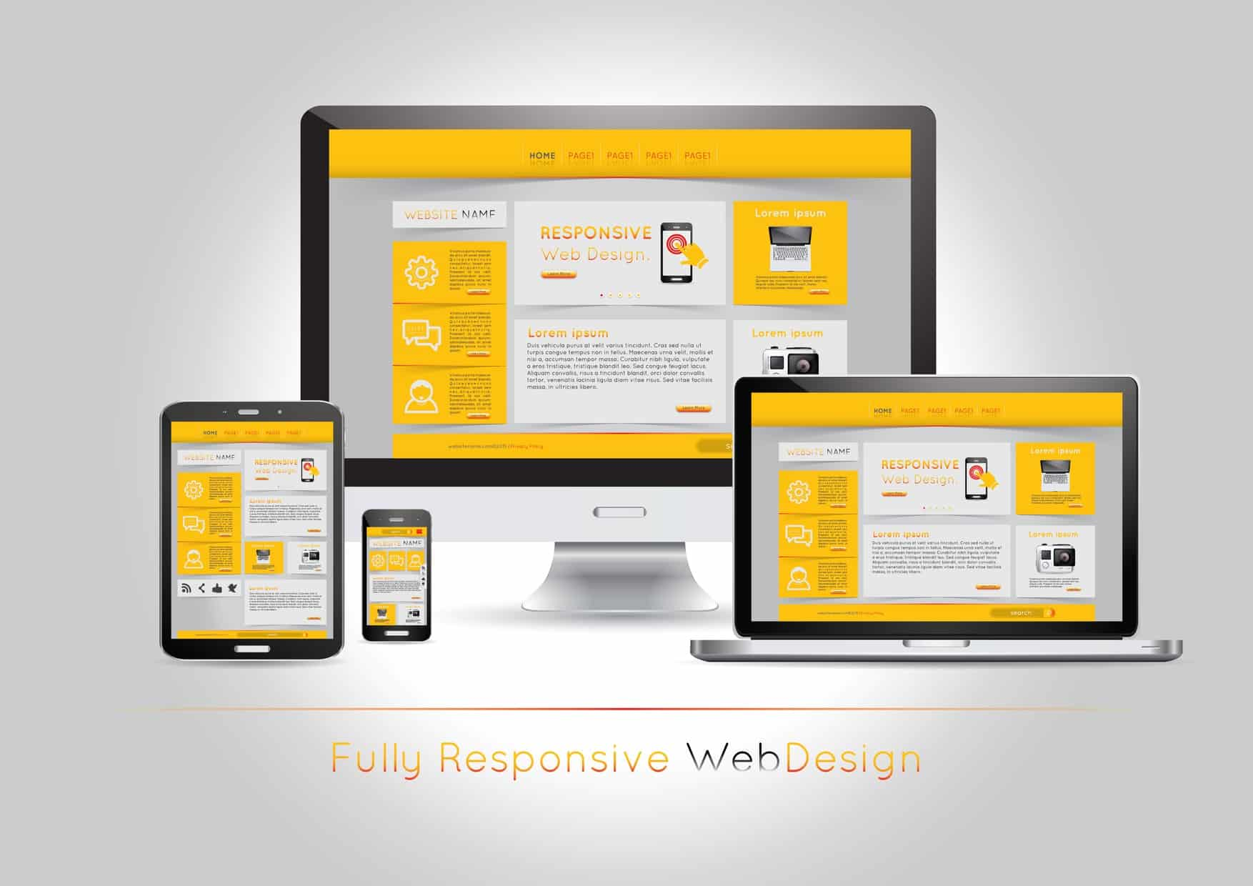 this picture shows a fully responsive website design